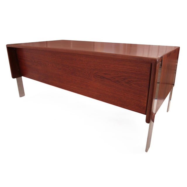 Solid Sedua and Steel Desk by Gerald McCabe - Image 6 of 6