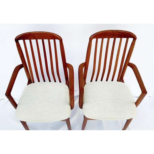 1960s 1960s Danish Modern Benny Linden Walnut Arm Chairs - a Pair For Sale - Image 5 of 11