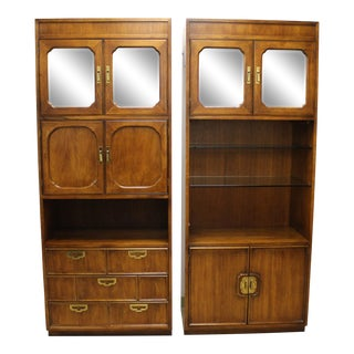 1980s Campaign Thomasville Bookcase Media Center/Wall Unit For Sale