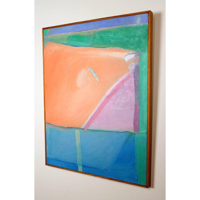 1980s Richard Diebenkorn Style Abstract Expressionism Painting For Sale - Image 4 of 6