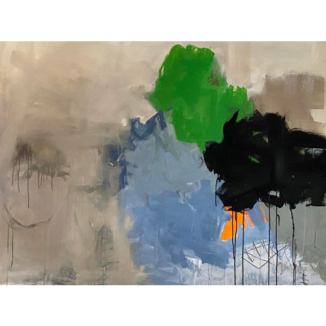 Abstract 405 by Wyman Lancaster. Oil and mixed media on canvas. 72 x 96 x 2 Wyman Lancaster is one of those Rare talents,...