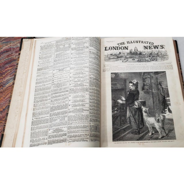 Black Two Volumes Illustrated London News Books 861 and 1867 - Set of 2 For Sale - Image 8 of 13