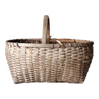 Antique Wicker Basket For Sale