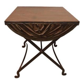 Copper Top Metal Table