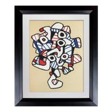 Image of Abstract Jean Dubuffet Lithograph Limited Edition Velin Maroquin Paper For Sale