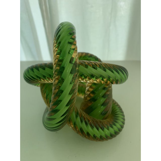 Green and Gold Glass Lover's Knot