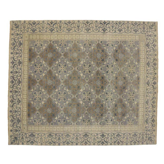 1900s Khotan Design Rug With Traditional Modern Style - 9′ × 10′7″ For Sale - Image 4 of 5