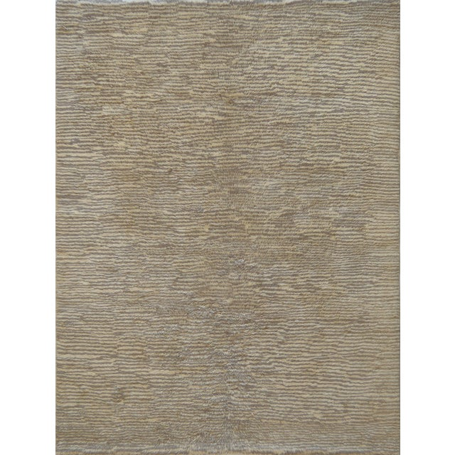 Textile Handwoven Deep Pile Wool Rug For Sale - Image 7 of 7