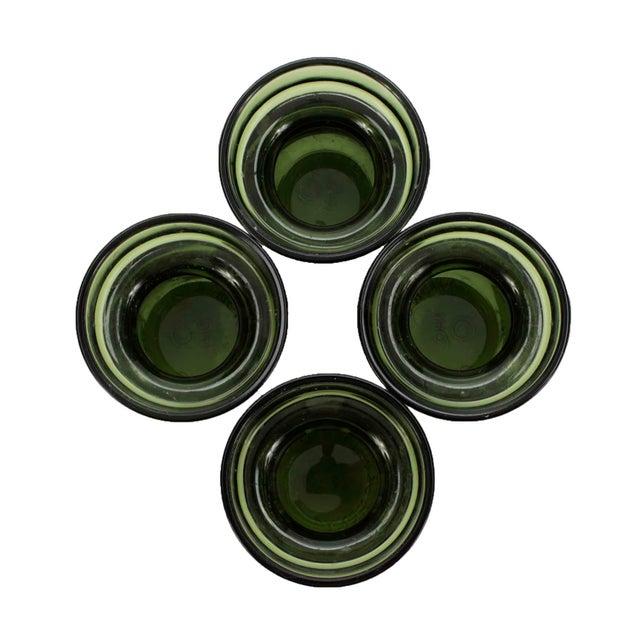 Mid-Century Modern Vintage Jens Quistgaard Dansk Designs Green Glass Candleholders, Set of 4 For Sale - Image 3 of 5