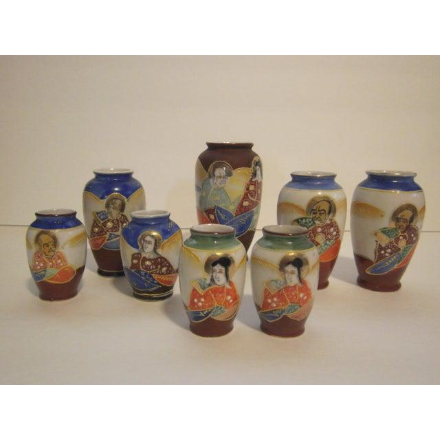 Miniature Satsuma Vases - Set of 8 - Image 2 of 11