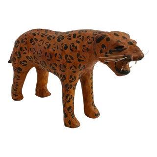Vintage Papier Mache Tiger Figurine