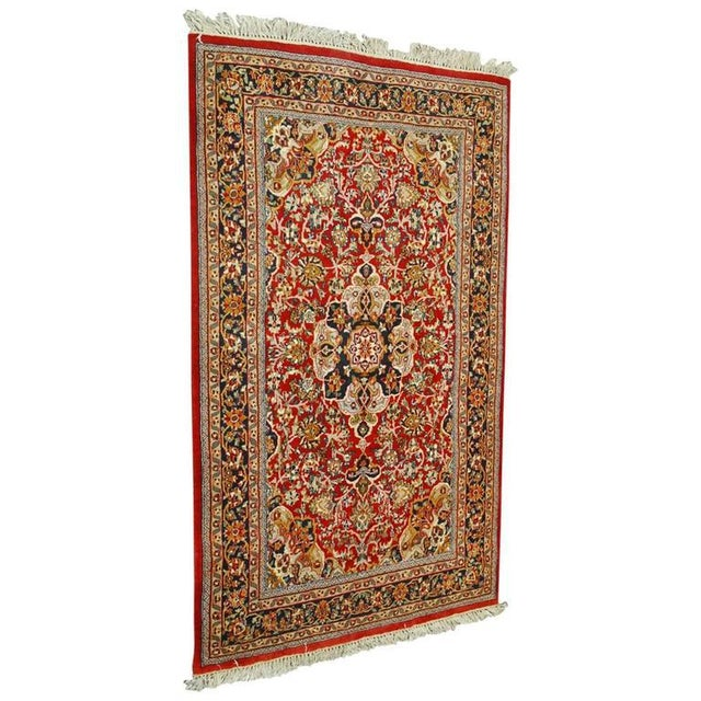 20th Century Isfahan Rug For Sale In San Francisco - Image 6 of 6