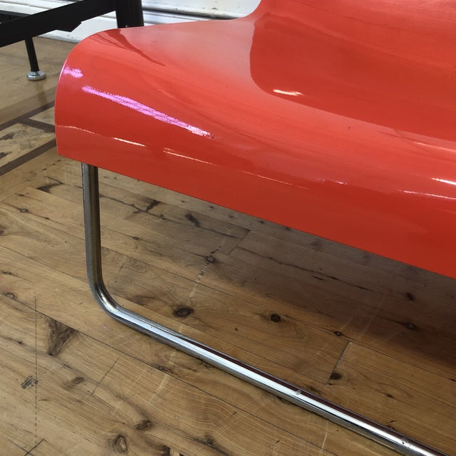 Kartell Piero Lissoni Orange Form Lounge Chair For Sale - Image 9 of 11