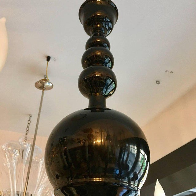Glass 1970s Venetian Murano Glass Mid-Century Chandelier For Sale - Image 7 of 11
