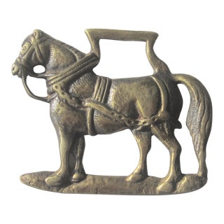 Vintage Brass Horse Bottle Opener For Sale