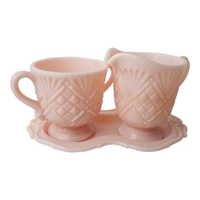 Fostoria Pink Cream & Sugar Set - Image 1 of 5