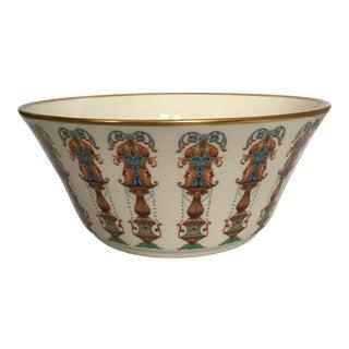Lenox Lido Collection Ceramic & Gold Decorative Bowl For Sale