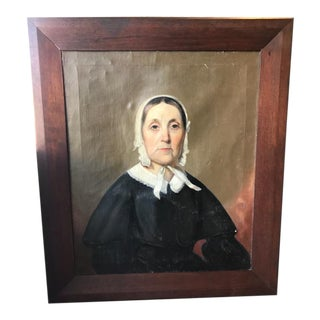 Mid-19th Century Portrait of an Old Woman For Sale