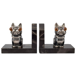 "Pair of French Art Deco Bookends by H. Moreau ""Hippolyte François Moreau"" For Sale"