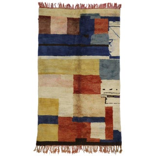Vintage Berber Moroccan Rug with Contemporary Style For Sale