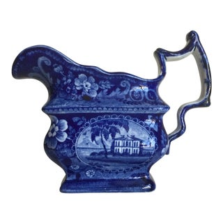Transferware Pitcher Attributed to William Adams, 1825