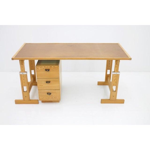 Asko Adjustable Pine Wood Writing Desk Finland, 1970s For Sale - Image 12 of 13