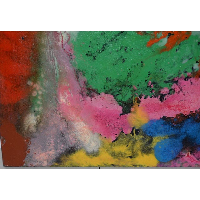 Manor Shadian (b.1931 Iran / California) Modernist Abstract Oil Painting 21st C. Fine modernist oil on canvas by listed...