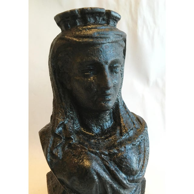 19th Century French Cast Iron Lady Bust Fragment - Image 6 of 7