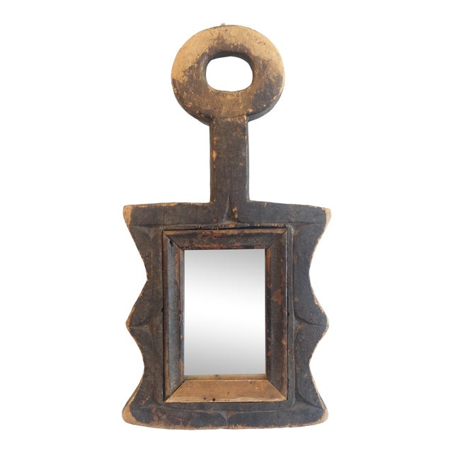 Primitive Wood Mirror For Sale