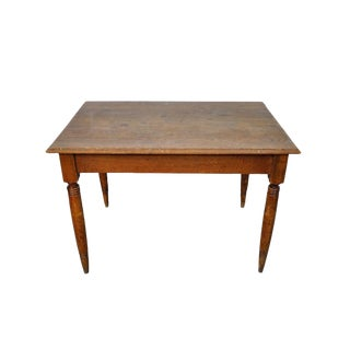 Vintage French Oak Farmhouse Dining Table For Sale