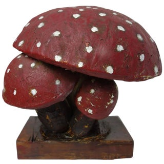 Paper Mâché Model of an Amanita Mushroom