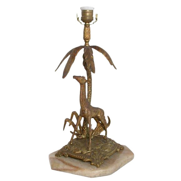 Figural Bronze table lamp For Sale