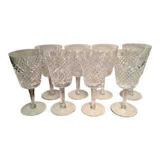 Waterford Alana Water Goblets - Set of 8 For Sale