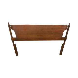 Vintage Danish Modern Style Walnut Full Size Bed Headboard For Sale
