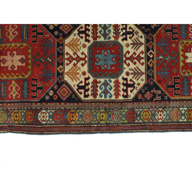 "1900s Persian Leon Banilivi Antique Karabagh - 3'8"" X 9'6"" For Sale - Image 4 of 6"
