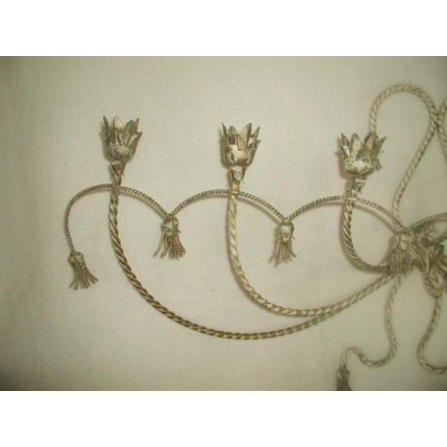 Antique Early 1900's Italian 7 Candle Candelabra Sconce For Sale - Image 4 of 7
