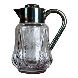Interwar Period Crystal Pitcher For Sale
