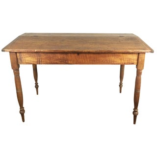 19th-C. Rustic Sheraton Wood Desk For Sale
