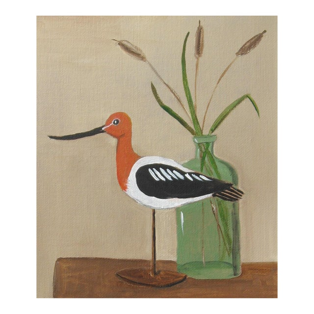 Avocet Shorebird Still Life - Image 1 of 3