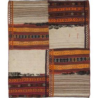 "Vintage Persian Flatweave Kilim Rug – Size: 6"" X 7' 2"" For Sale"