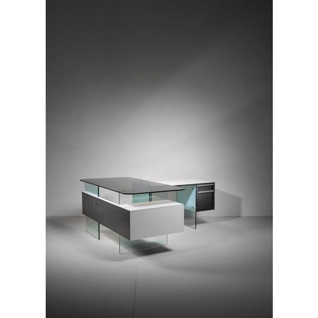 Xavier Marbeau Xavier Marbeau Very Rare Modular Positioning Desk, France, 1960s For Sale - Image 4 of 6