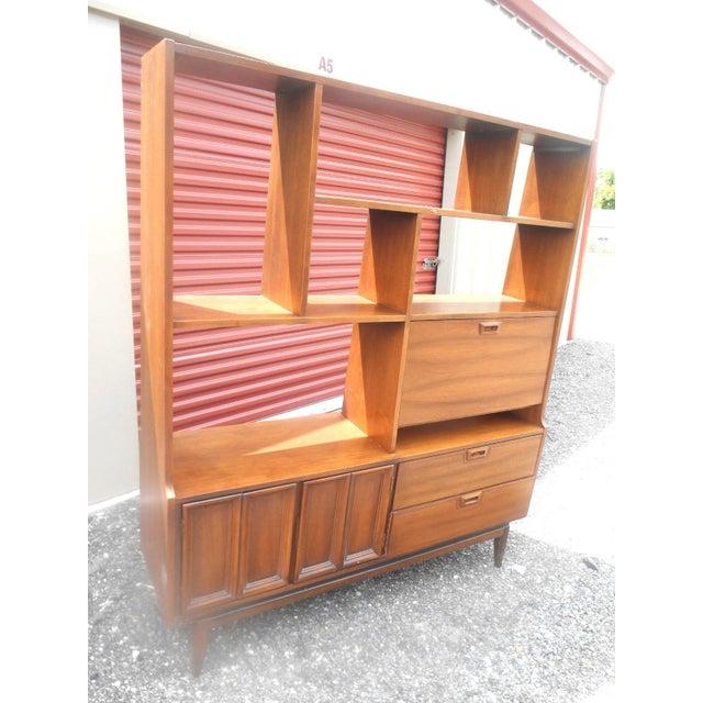 1960s Danish Modern Walnut Room Bookcase/Wall Cabinet - Image 3 of 5