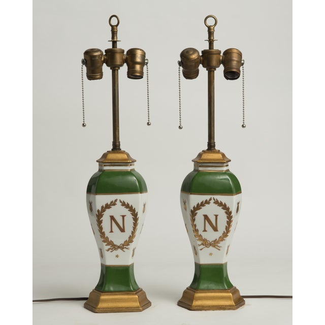 Late 19th Century French Napoleonic Lamps Style of Sèvres - a Pair For Sale - Image 12 of 12