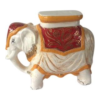 Elephant Glazed Terra Cotta Italian Garden Stool