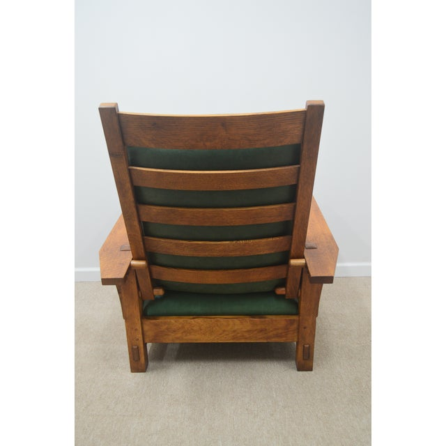 Brown Mission Stickley Oak Morris Chair W/ Ottoman - 2 Pieces For Sale - Image 8 of 13