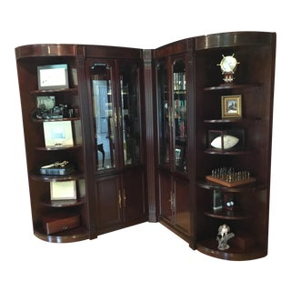 Sligh Wall Unit Bookcase Display Cabinet For Sale