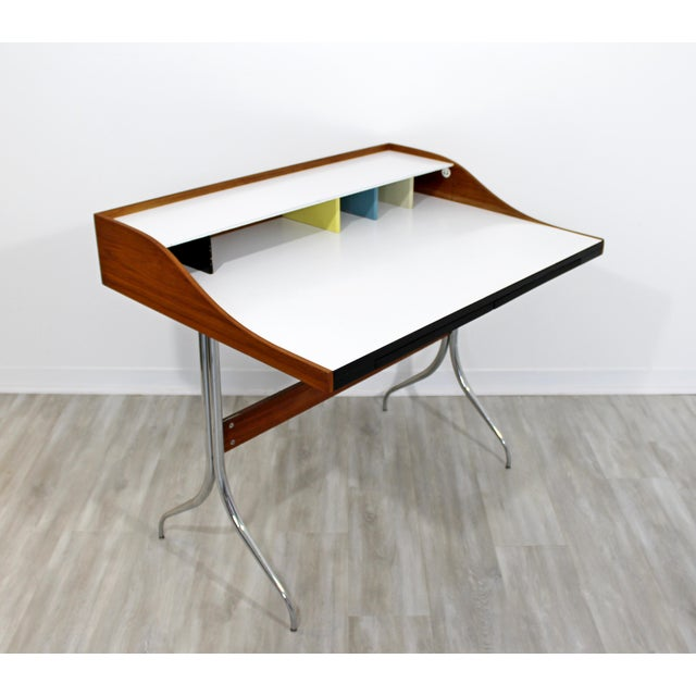 Mid-Century Modern Mid-Century Modern Early Production George Nelson Herman Miller Swag Leg Desk For Sale - Image 3 of 13