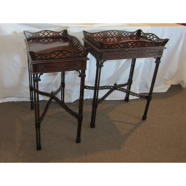 Master Craftsman Chippendale End Tables - A Pair - Image 3 of 4