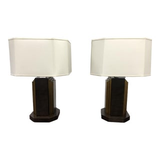 Hickory Chair Lowell Table Lamps - a Pair For Sale