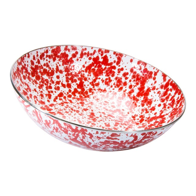 Catering Bowl Red Swirl - 5 qts. For Sale